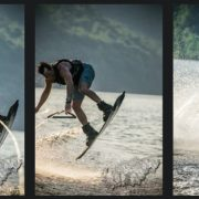 wakeboarding on Cheat Lake