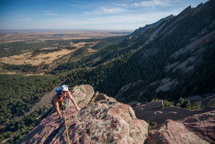 Climbing in Colorado, 3rd Flat Iron, Boulder, CO, Travel, Climbing, Tara Smith