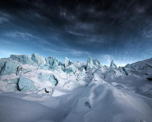 Alpine Glow on Matanuska Glacier
