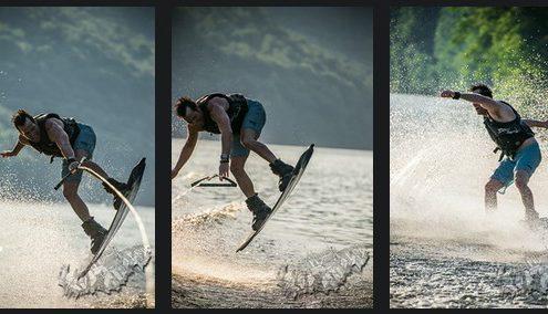wakeboarding on Cheat Lake