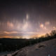 Light Pillars over Morgantown, WV - From Coopers Rocks Overlook