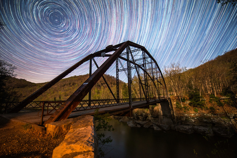Star Trails, Cheat River, Juried Exhibition