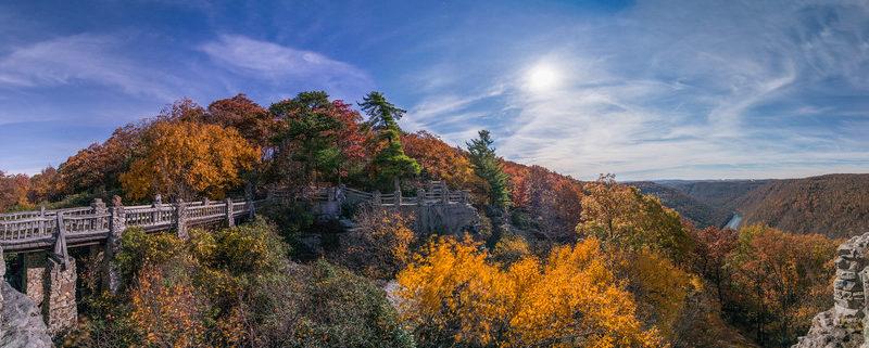 Moonlight on Coopers Rock, WV