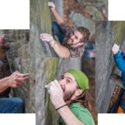 First Day at Coopers, Coopers Rock, Climbing, Bouldering, Dylan Jones, Matt Cline, Eric Fizer, by Gabe DeWitt