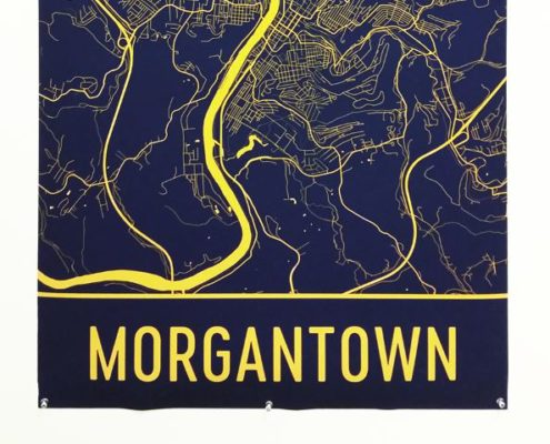 Morgantown, Mordernmapart, Map Art,