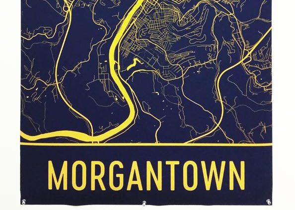 Morgantown, Mordernmapart, Map Art,